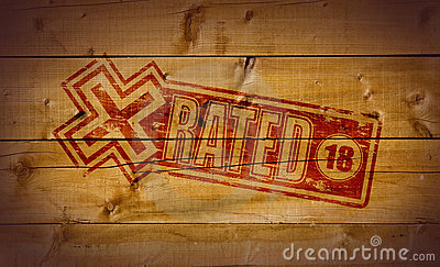 X Rated stamp