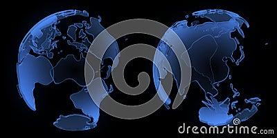 X ray globe, Asia and Australia