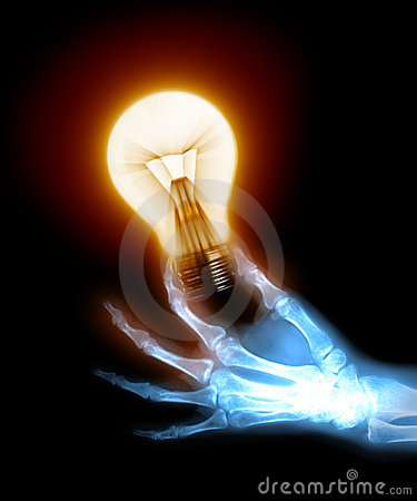 X-ray hand with bulb