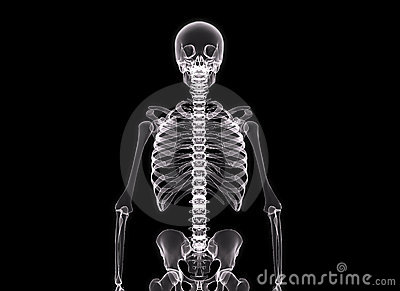 X-ray of the human body