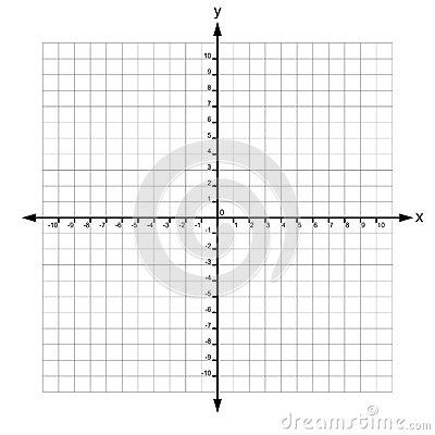 X And Y Axis With Numbers Vector Stock Vector - Image