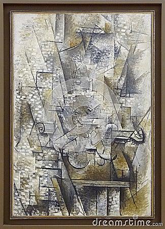 """""""nature Morte Au Violon"""", Georges Braque, 1911. Centre Pompidou, Paris. Free Public Domain Cc0 Image"""