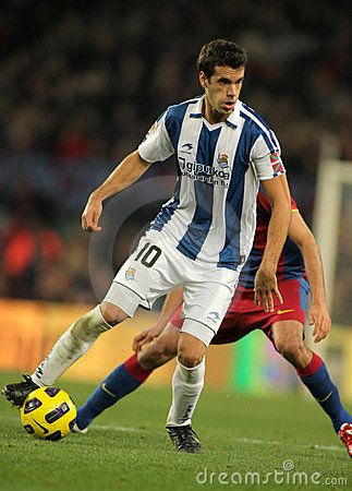 Xabier Prieto of Real Sociedad Editorial Stock Photo