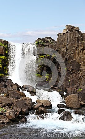 Öxarárfoss Waterfall at Thingvellir Park, Iceland