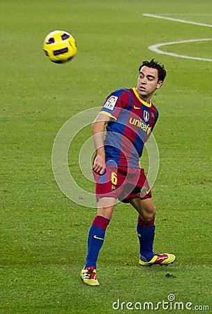 Xavi (FC Barcelona) Editorial Stock Photo