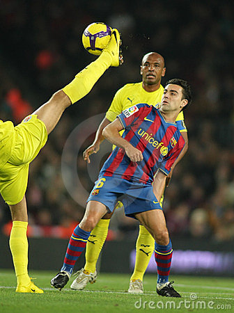 Xavi Hernandez of FC Barcelona Editorial Stock Photo