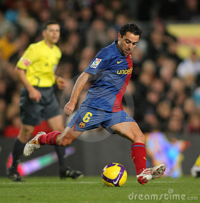 Xavi Hernandez FC Barcelona player Editorial Photography