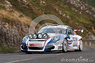 Xavi Pons Porsche 911 Principe Asturias Editorial Stock Image