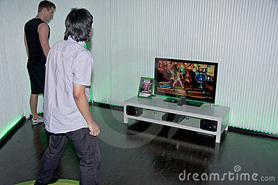 Xbox 360 and Kinect with Dance Central Editorial Photo