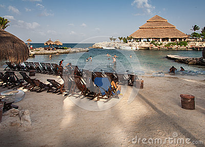 Xcaret beach Yucatan Peninsula Mexico Editorial Stock Image