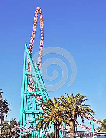Xcelerator Vertical Track Editorial Photo
