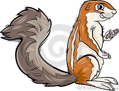 Xerus Animal Cartoon Illustration Stock Vector - Image ...