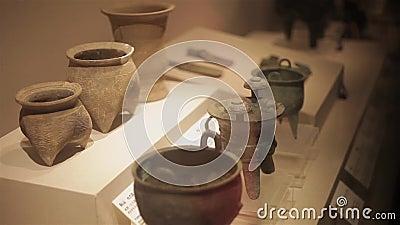 XI 'uma China 30 de maio de 2012: Exposição antiga chinesa da relíquia cultural no museu de Shaanxi filme