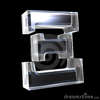 Free Xi Symbol In Glass (3d) Stock Photography - 5529542