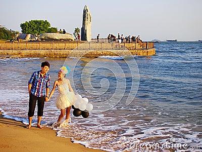 Xiamen,China,Beach Editorial Stock Image