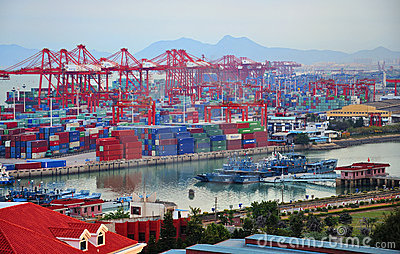 Xiamen ,China Port Editorial Stock Image