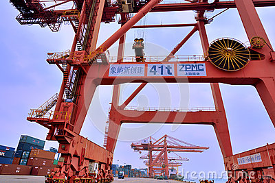 Xiamen harbor, Fujian, China Editorial Photo