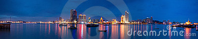 Xiamen island night scape panoramic view Editorial Photography