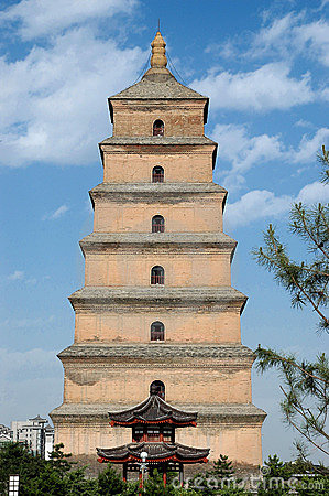Free Xian Big Wild Goose Pagoda Stock Photos - 3399293