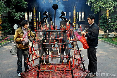 Xindu, China: Bao Guang Temple Editorial Stock Image