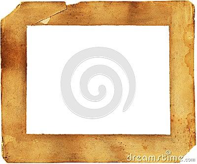 Xix wieku marniejący rama papier oznaczane