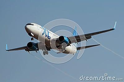 XL Airways Boeing 737-800 approaching Rwy Editorial Photo
