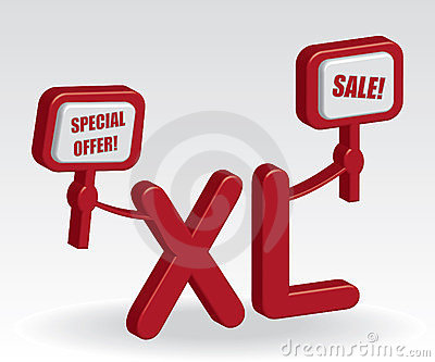 XL sale illustration