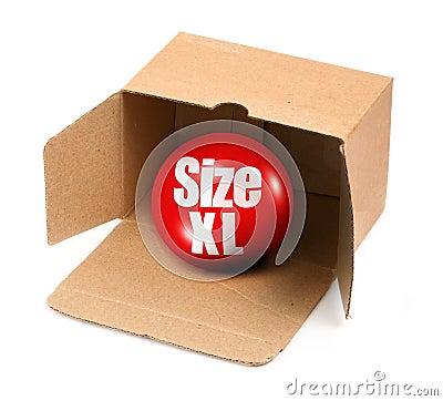 XL size concept