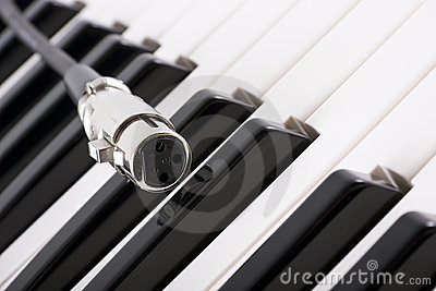 XLR connector on piano