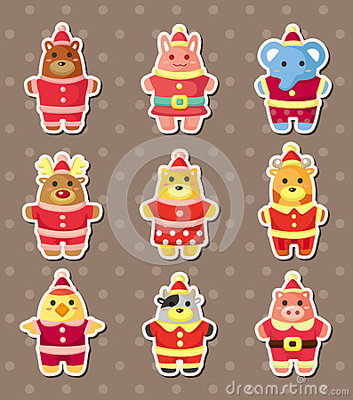 Xmas animal stickers