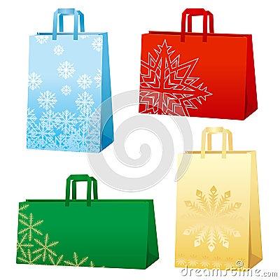 Xmas bags - Snowflakes