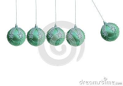 Xmas ball pendulum