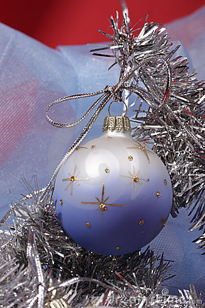 Xmas ball on silver fir