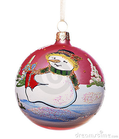 Xmas ball with snowman
