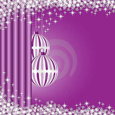 Xmas balls purple
