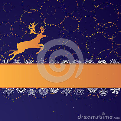 Xmas banner with reindeer