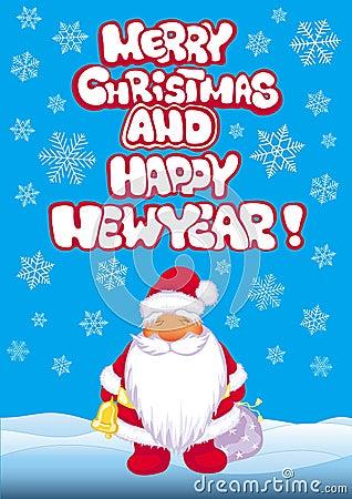 Xmas banner with Santa