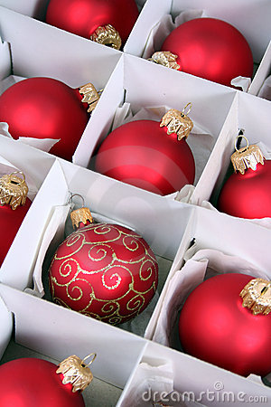Xmas baubles in box