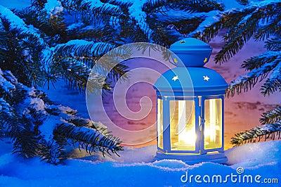 Xmas candle light lantern