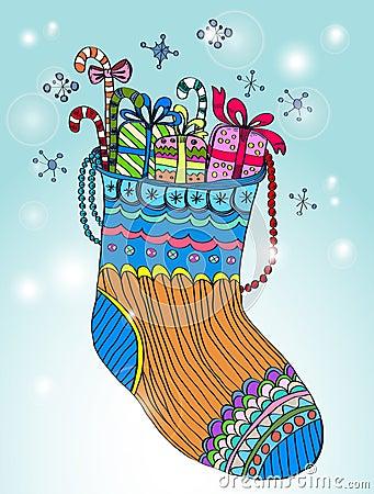 Xmas color socks