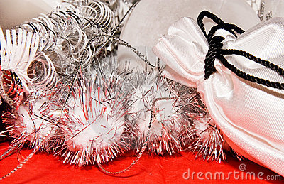 Xmas decoration with gift bag