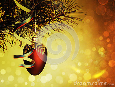 Xmas decorations with beauty bokeh