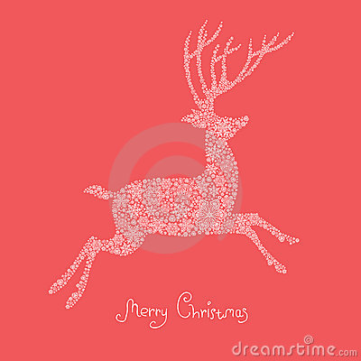 Xmas deer illustration.