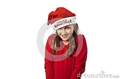 Xmas girl smiling