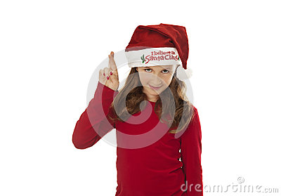 Xmas girl, wishing