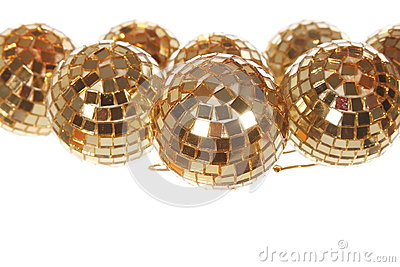 Xmas mirror golden balls