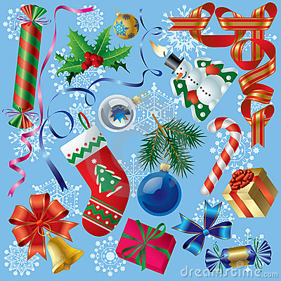 Free Xmas & New-Year S Decorations Stock Photography - 3534122
