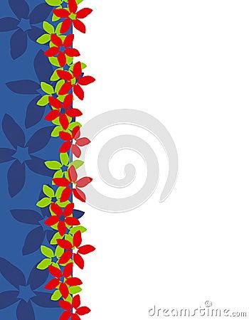 Xmas Poinsettia Page Border 2