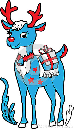 Xmas reindeer Rudolf