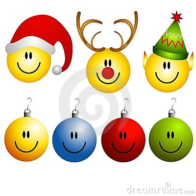 Xmas Smileys Ornament Icons